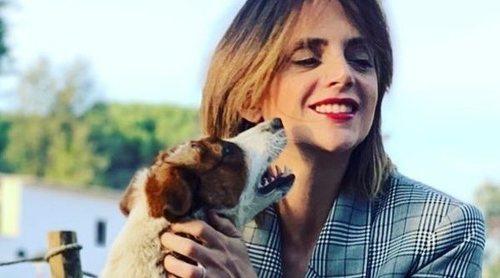 Macarena Gómez anuncia la muerte de su perrita Costra tras llevar varios días desaparecida