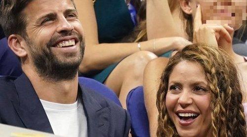 Gerard Piqué y Shakira, muy cómplices mientras disfrutan de Rafa Nadal en el US Open de Nueva York
