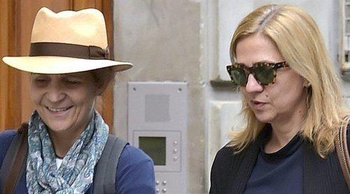 Las Infantas Elena y Cristina dan el pésame en privado a la familia del Presidente de Volvo, Germán López Madrid