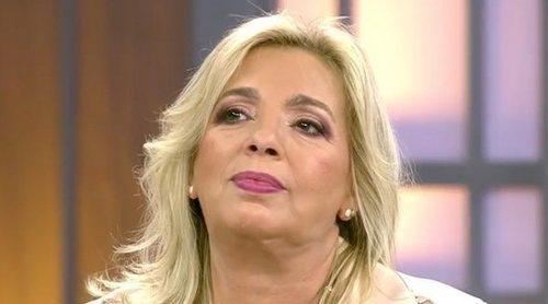 Carmen Borrego, muy enfadada ante la posibilidad de ser nombrada como el mueble de 'Viva la vida'