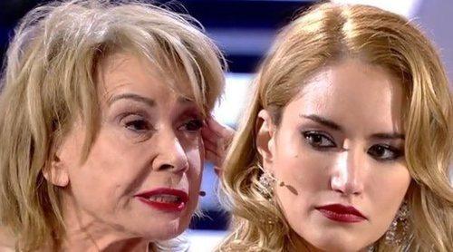 La bronca de Alba Carrillo y Mila Ximénez en el plató de 'GH VIP 7' al conocer la verdad de su relación