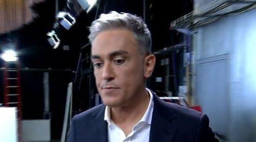 Kiko Hernández termina en el suelo de 'Sálvame' tras forcejear con David Valldeperas