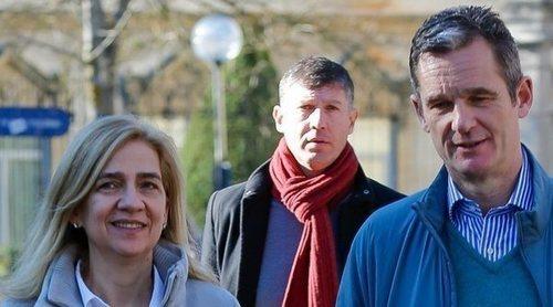 La felicidad de Iñaki Urdangarin y la Infanta Cristina paseando por Vitoria de la mano