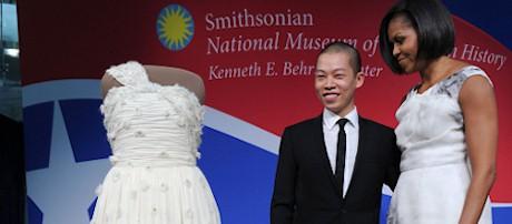 James Wan y Michelle Obama junto al vestido del éxito
