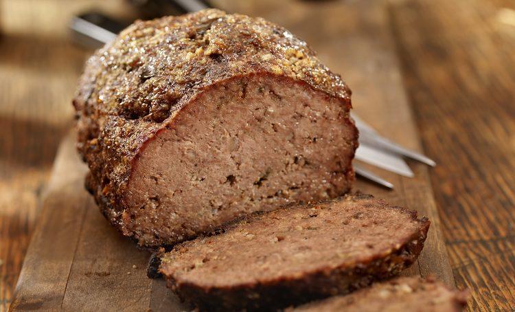 Este pastel de carne consta de carne picada