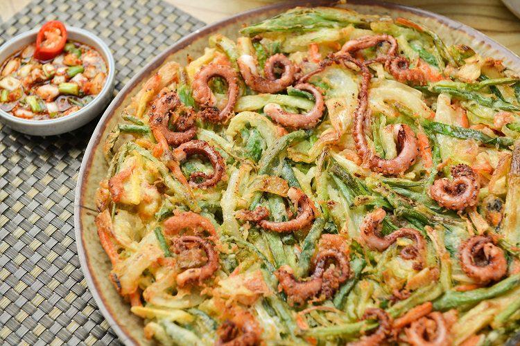 el Haemul Pajeon será la manera perfecta de degustar unos sabores más propios de la zona asiática oriental