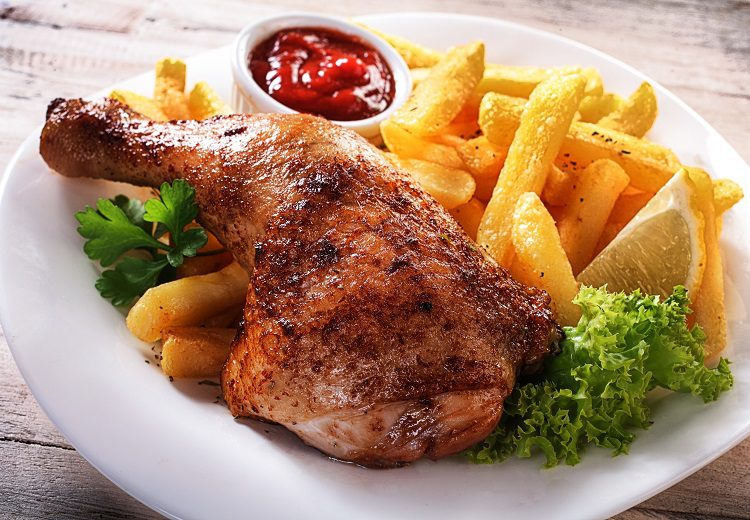 Pollo asado al microondas - Bekia Cocina
