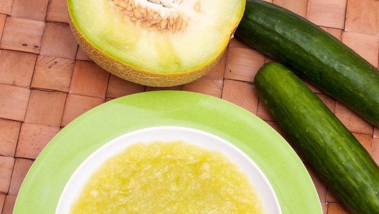 El jamón serrano combina a la perfección con esta sopa