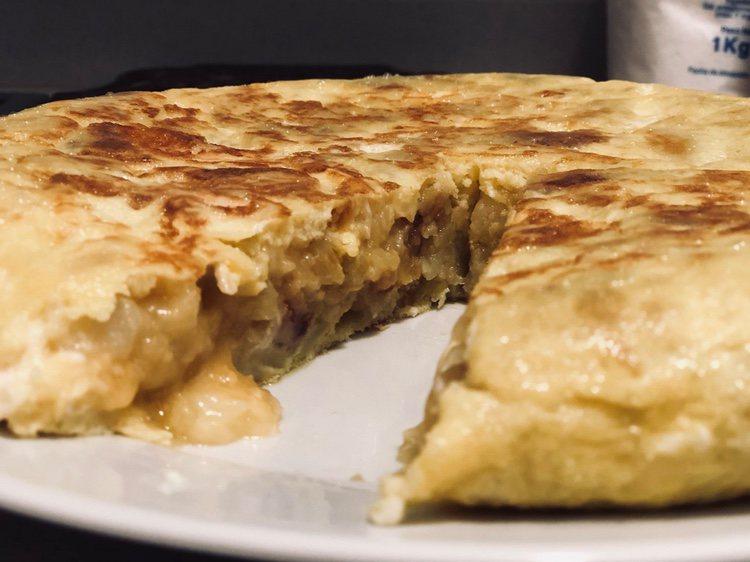 El resultado de la tortilla hecha por Cepeda/ Fuente: Twitter