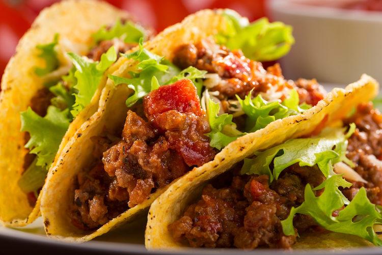 Tacos con carne picada