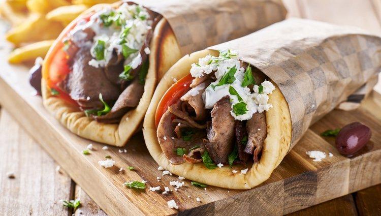El gyros griego equivale al kebab turco