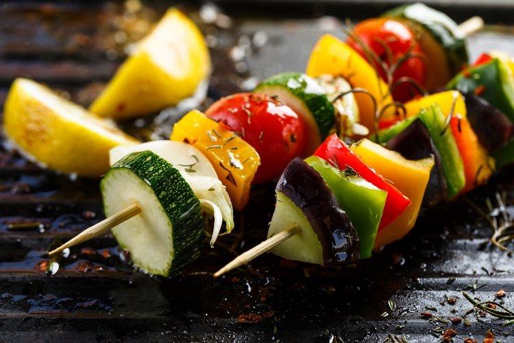 La brocheta es una forma diferente de consumir verduras