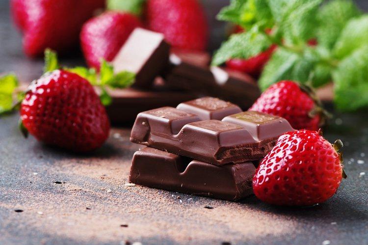 El chocolate y la fresa son dos ingredientes que van muy bien