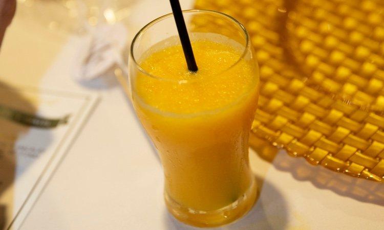 Saludable sorbete de mandarina
