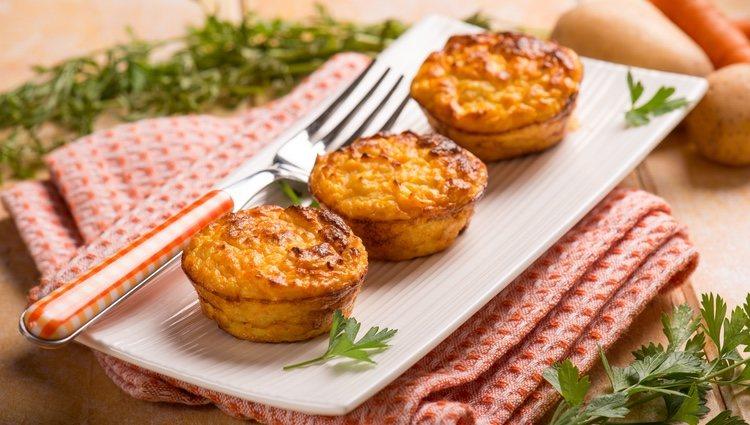 Las patatas con forma de muffins son una alternativa original y divertida