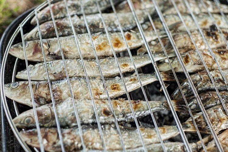 Sardinas hechas a la parrilla