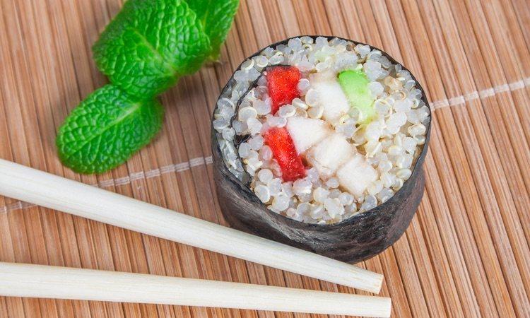 Los mejores sustitutivos del arrroz en tus makis crudiveganos serán la coliflor y la quinoa