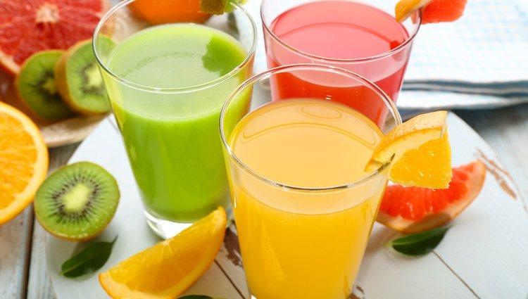 Esta receta se puede hacer con zumos de frutas comprados