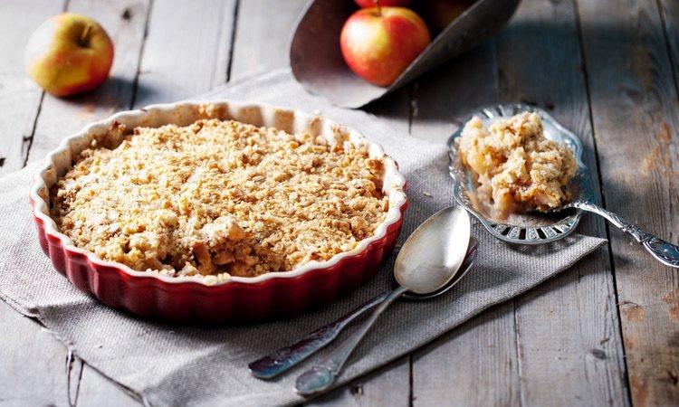El apple crumble es un postre sencillo y perfecto para acompañar cualquier comida