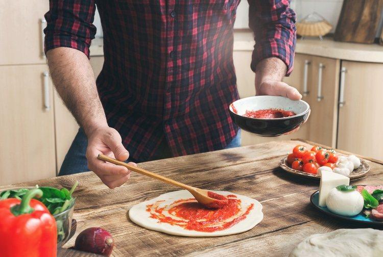 La elaboración de la pizza enrollada no te llevará más de 15 minutos