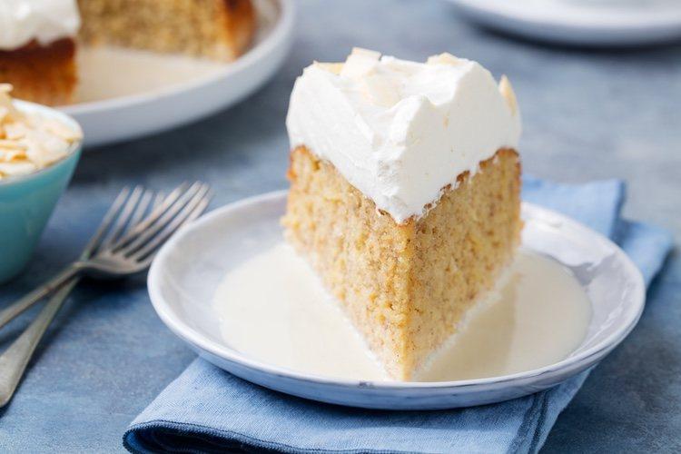 La tarta de tres leches es el postre perfecto para terminar una comida o acompañar un café