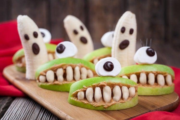 Snacks de fruta para Halloween