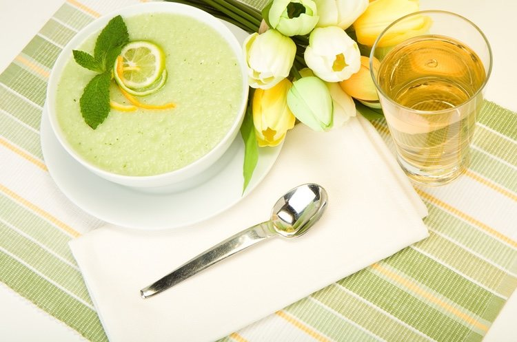 Se trata de una sopa muy refrescante