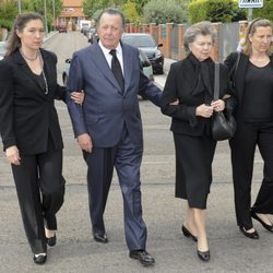 Los Duques de Calabria en el funeral de Fernando Moreno