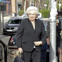 La Infanta Pilar en la misa en memoria de Fernando Moreno