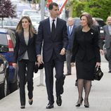 La Reina Sofía y los Príncipes de Asturias en la misa de Fernando Moreno