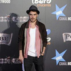 Javier Hernández en el estreno de 'Piratas del Caribe' en Madrid