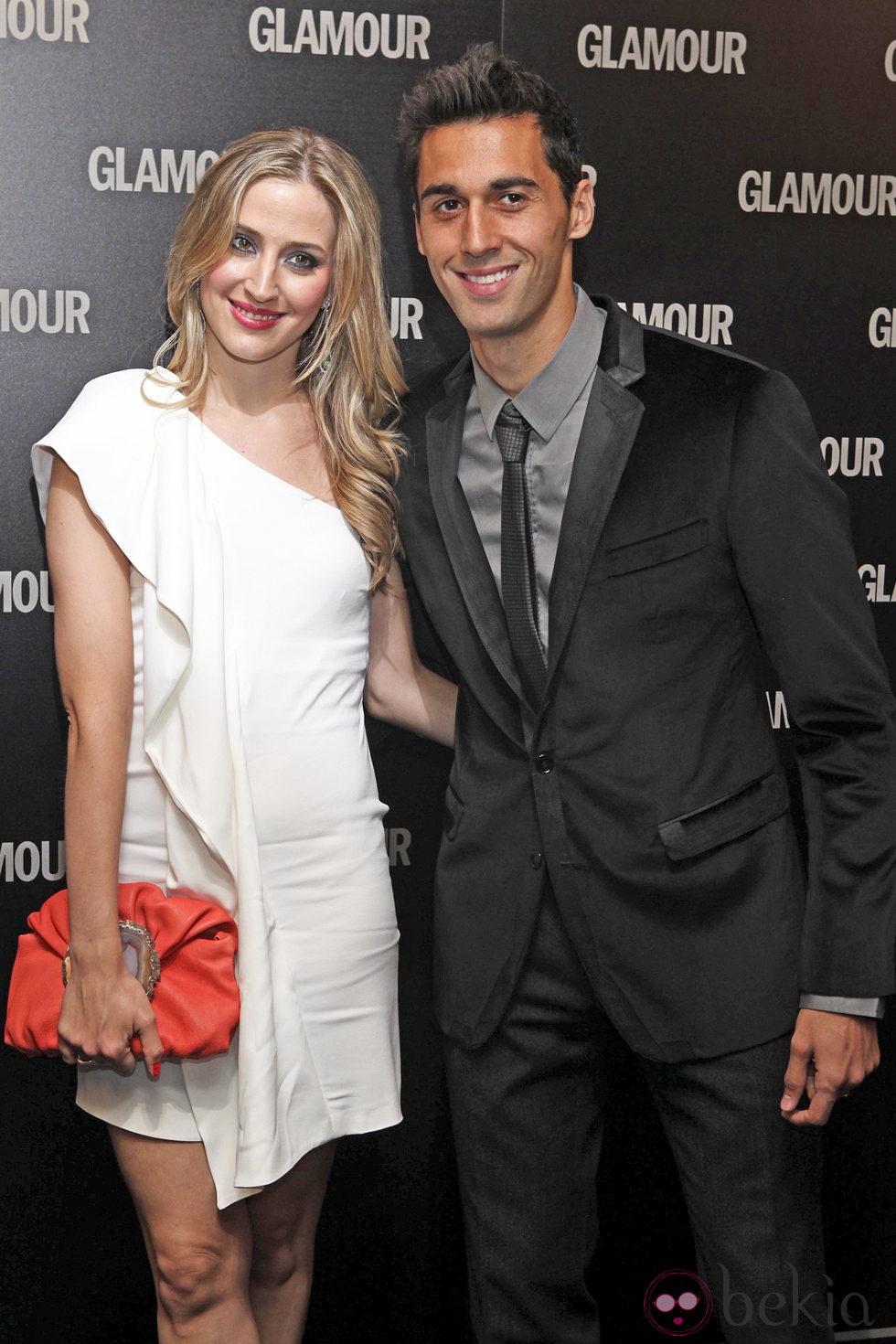 Álvaro Arbeloa y su novia en los Premios Glamour 2011