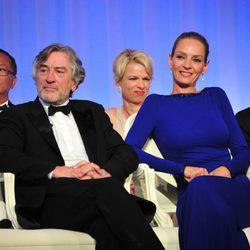 Robert de Niro y Uma Thurman en la clausura del Festival de Cannes