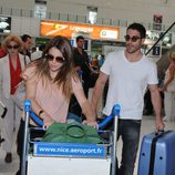Blanca Suárez y Miguel Ángel Silvestre vuelven de Cannes