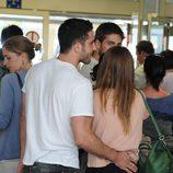Blanca Suárez y Miguel Ángel Silvestre juntos en el aeropuerto