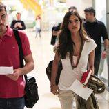 Iker Casillas y Sara Carbonero en Barajas