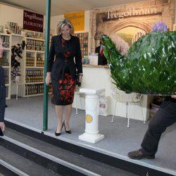 Los Condes de Wessex en la Chelsea Flower Show