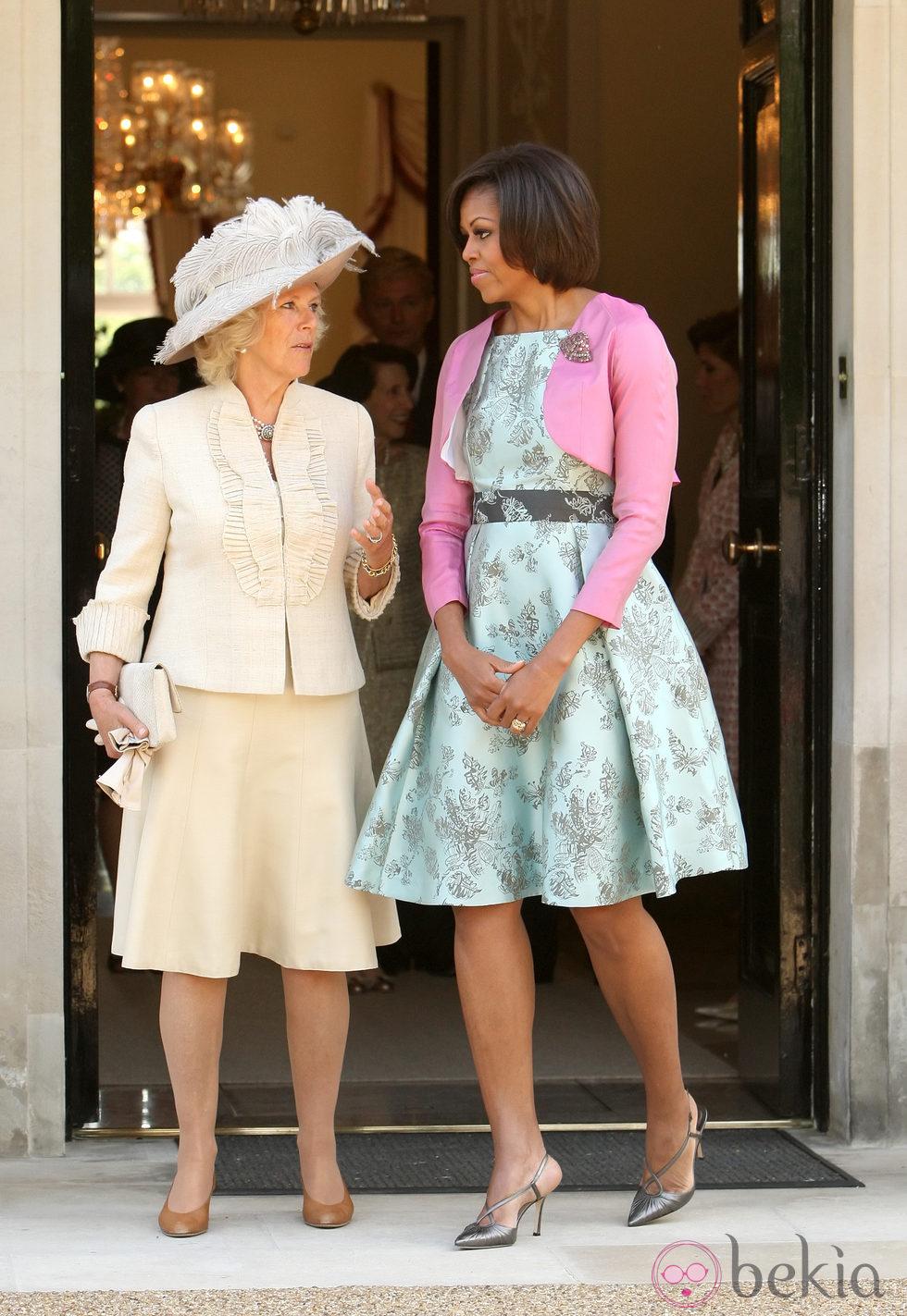 Camilla Parker y Michelle Obama en Londres