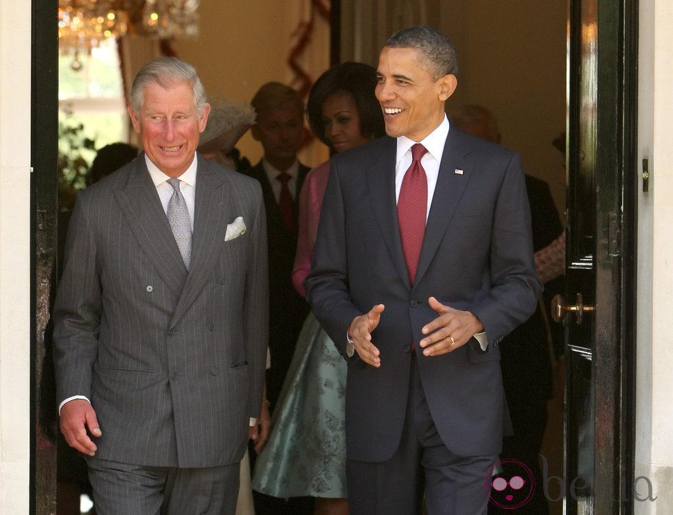 El Príncipe Carlos de Gales y Barack Obama