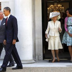 Los Obama, Carlos de Inglaterra y Camilla Parker en Londres