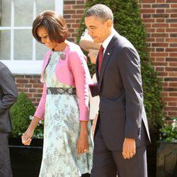 Barack y Michelle Obama de visita oficial en Londres