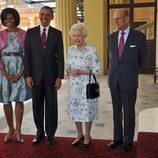 Los Obama, la Reina Isabel II y el Príncipe Felipe en Londres