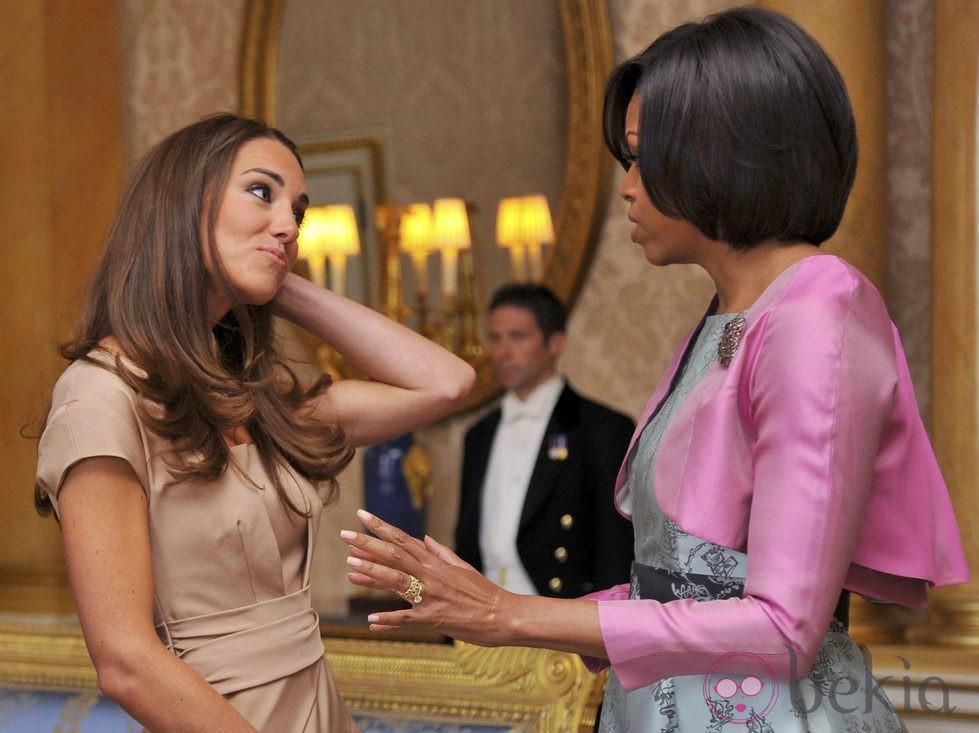 Catalina Middleton y Michelle Obama en Londres