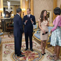 Los Obama y los Cambridge en Londres