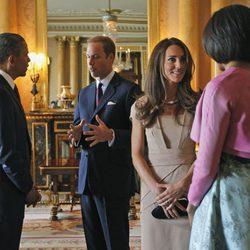 El Príncipe Guillermo, la Duquesa Catalina y los Obama en Londres