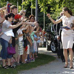 Victoria y Daniel de Suecia aclamados en Munich