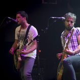 La banda Sidecars en un momento de su actuación en la Joy Slava