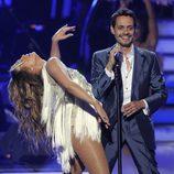 Jennifer Lopez y Marc Anthony en la final de 'American Idol'