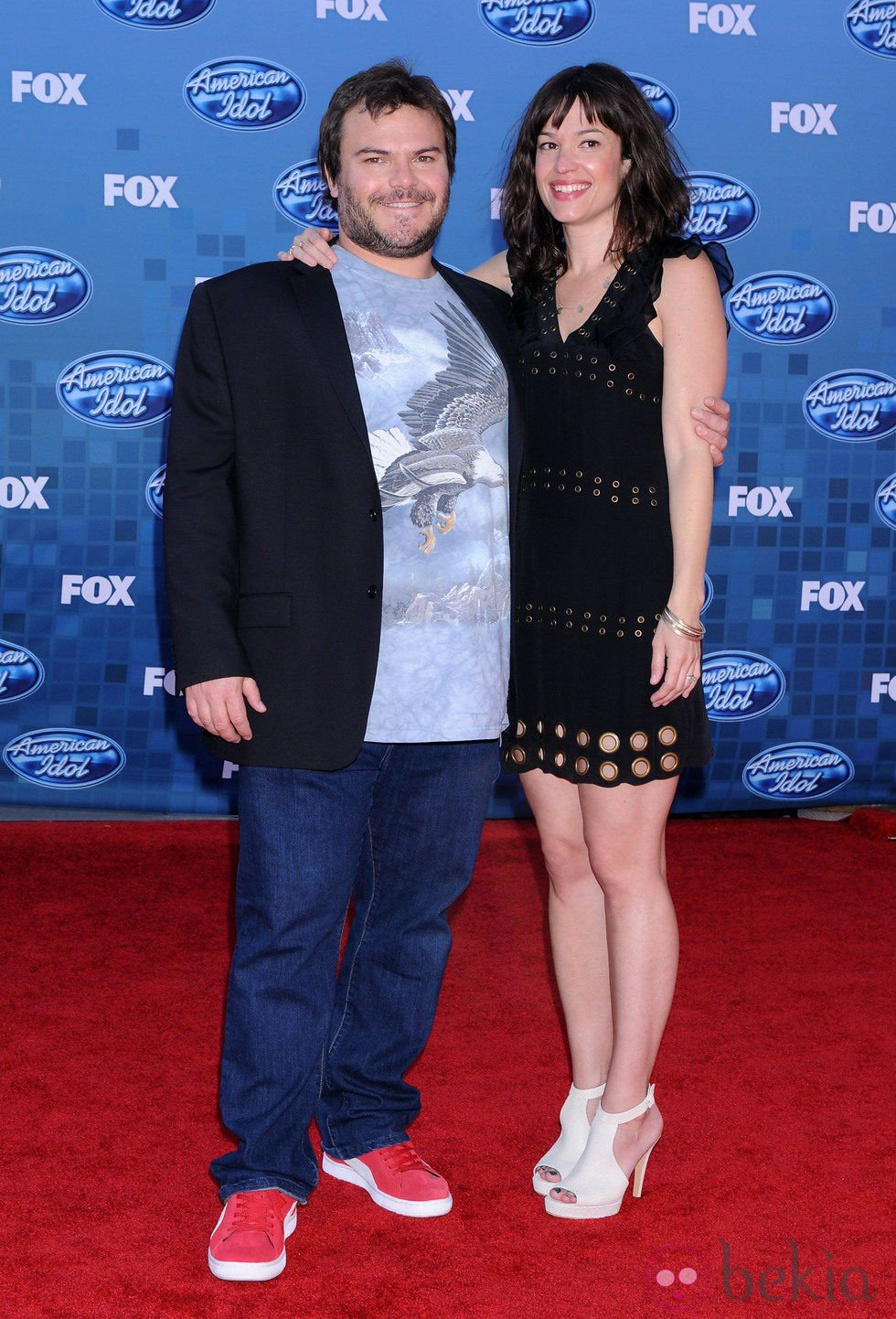 Jack Black y Tanya Haden en la final de 'American Idol'