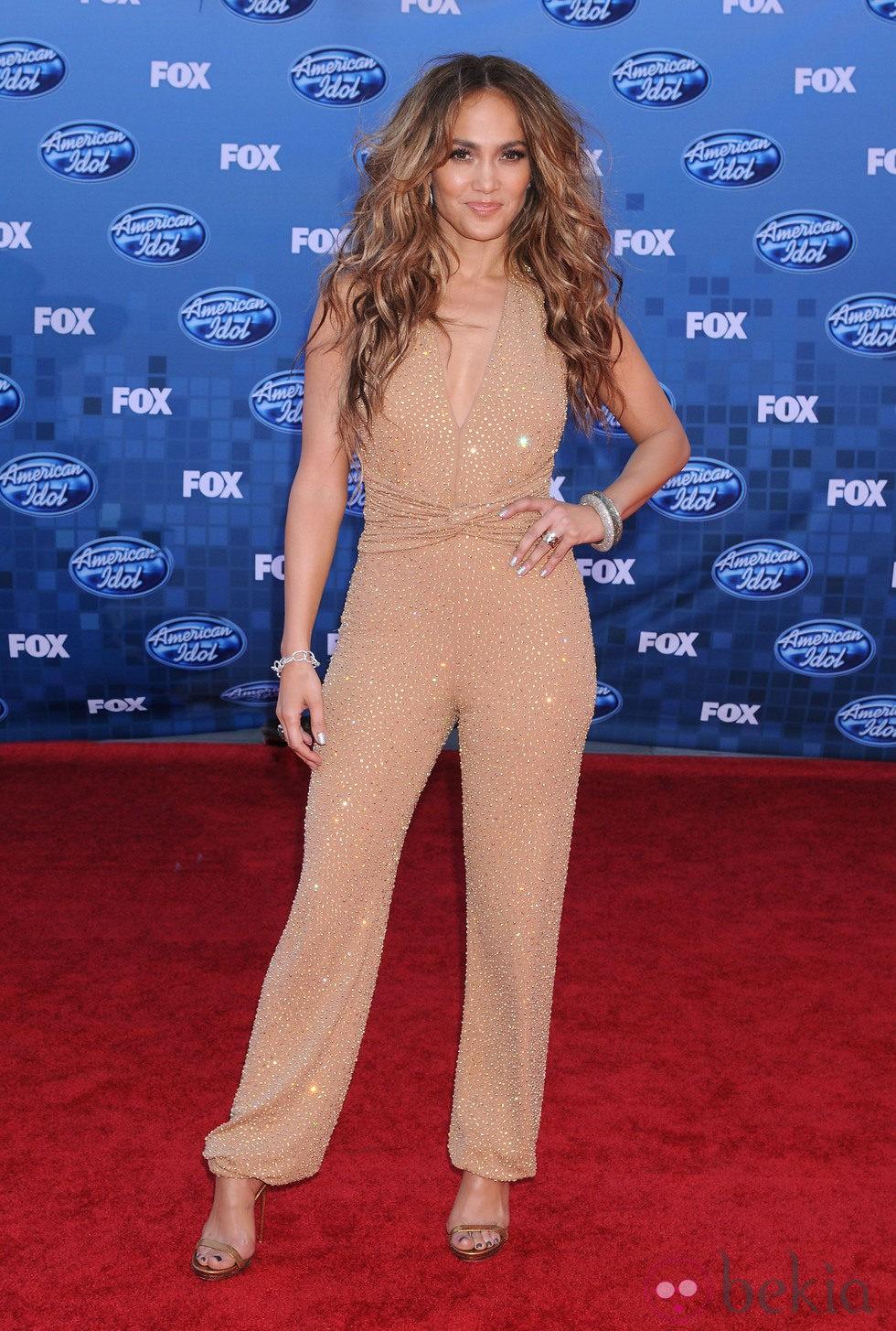 Jennifer Lopez en la final de 'American Idol'